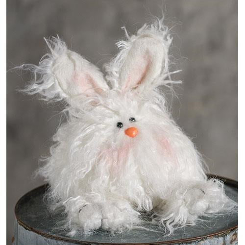 White Furry Small Angora Bunny