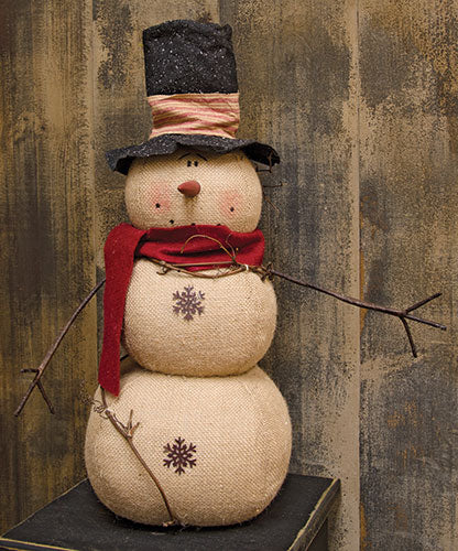 Top Hat Snowman Christmas Figurine