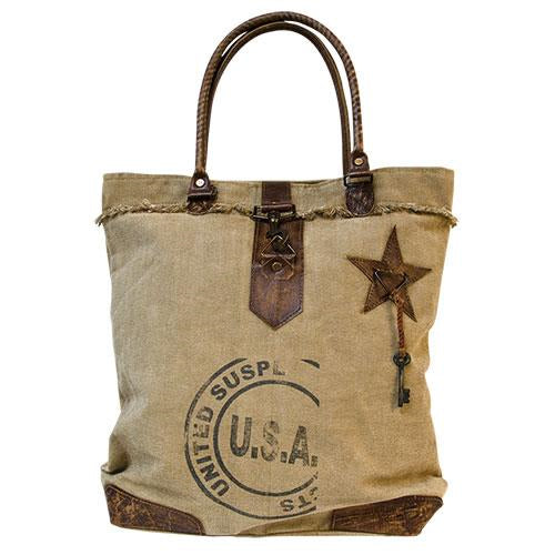 Vintage USA & Star Tote Bag