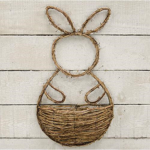 Vine Bunny Wall Pocket Basket