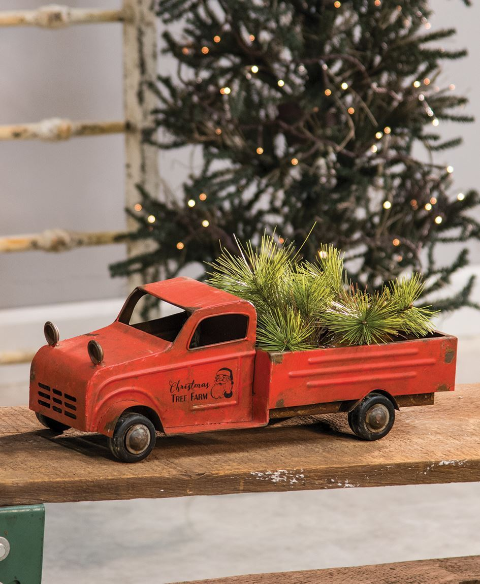 Christmas Red Truck.Vintage Red Truck
