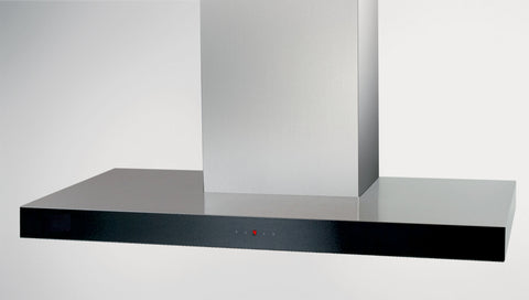Award 90cm Black Glass Canopy Rangehood