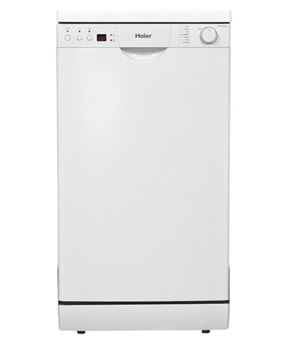 Haier HDW9TFE3WH compact freestanding dishwasher