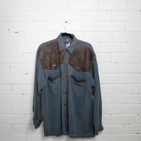 Western Denim shirt  XL