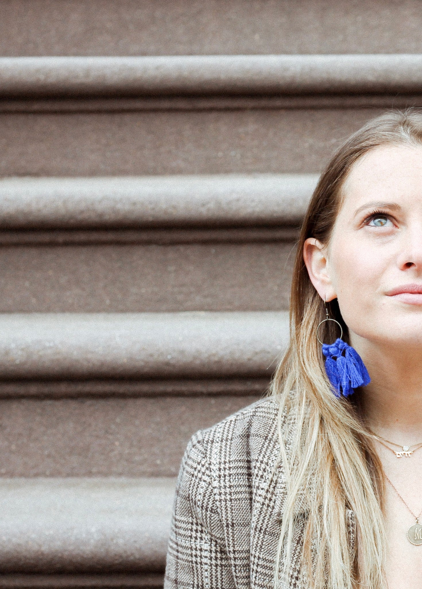 vK. Tassel Earrings - Royal Blue