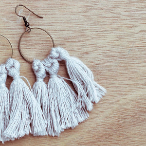 vK. Tassel Earrings - Silver