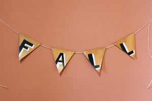 FALL Leather Hand Painted Pennants