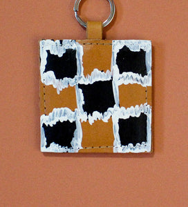 vK. Square Keychain - Hand Painted 2