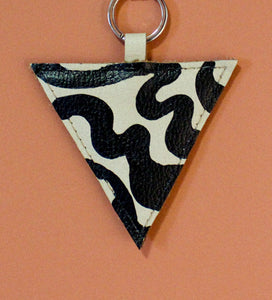 vK. Triangle Keychain - NUDE Hand Painted