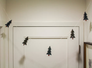 Leather Tree Garland