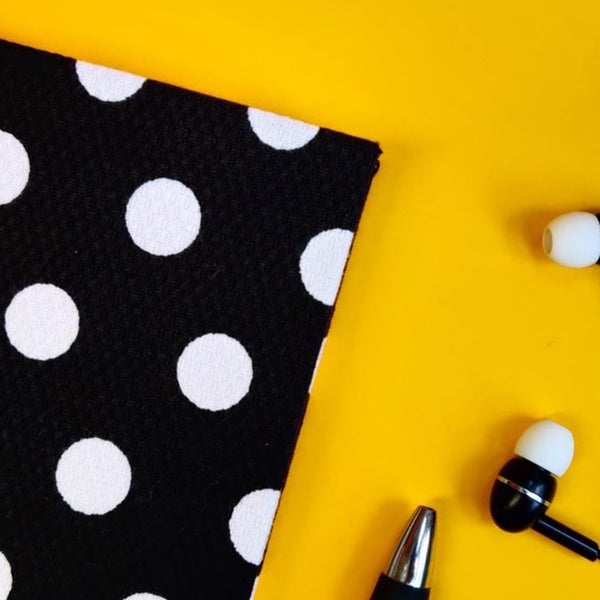 Black Polka Dot Cotton