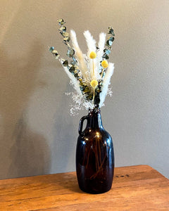 Dried Floral Arrangement with Vase