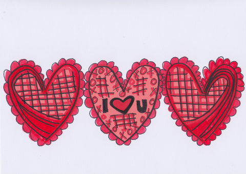 Valentine's Card no. 1 (4 Pack)
