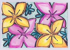 Floral Card no. 1 (4 Pack)