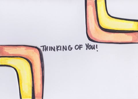 Thinking of You Card no. 1 (4 Pack)