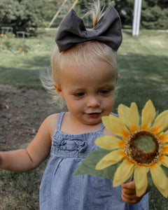 Slate Grey VBABY Hair Bow