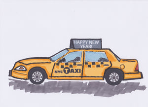 Happy New Year Card no. 3 (4 Pack)