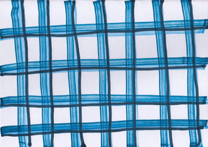 Blue Plaid Card no. 1