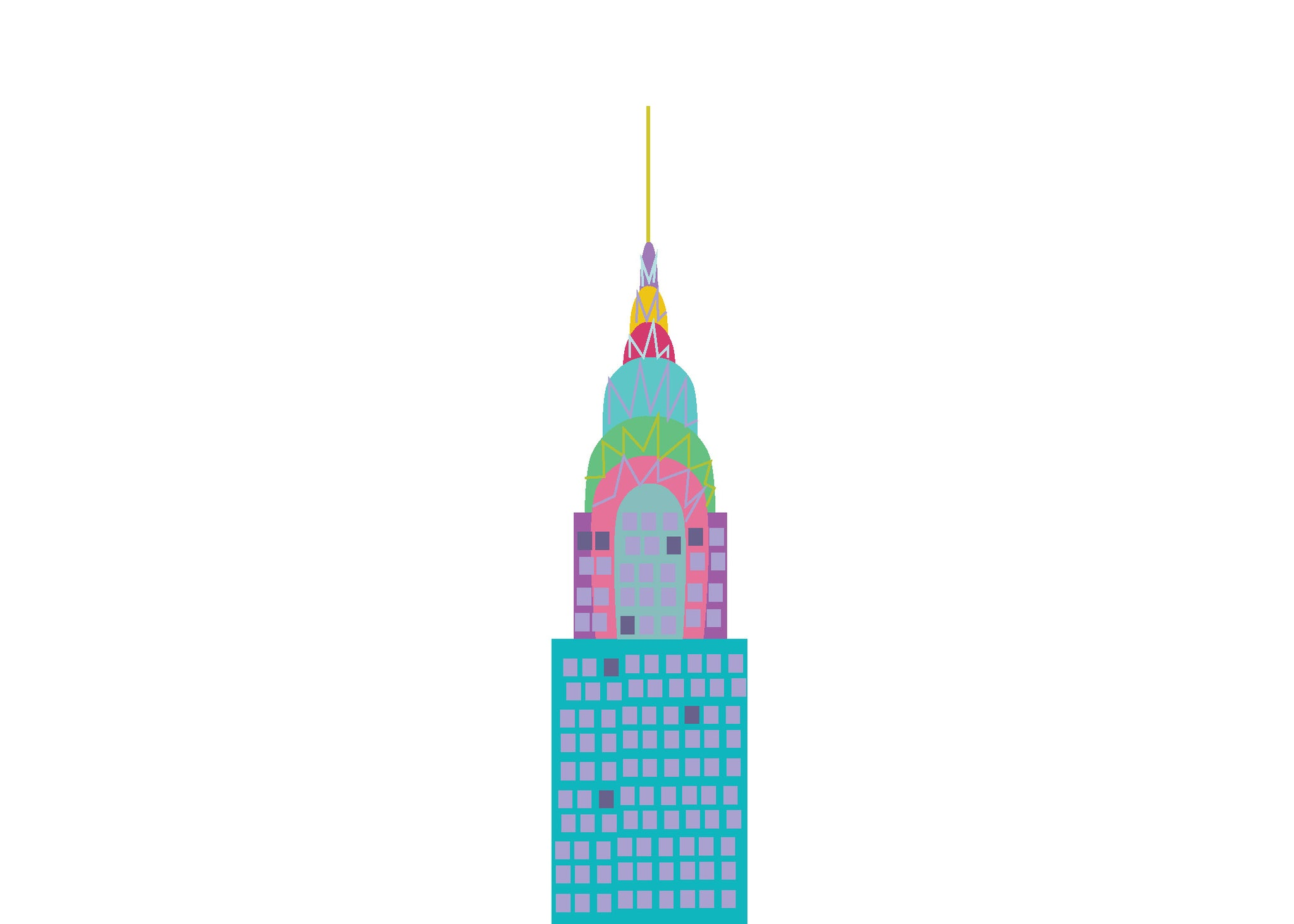 Chrysler Building (4 Pack)