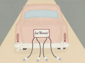 Just Married Wedding Card no. 1 (4 Pack)
