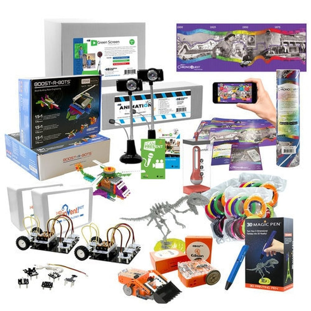 Intermediate Skill Level - Starter STEAM Pack - Coding Robots, Engineering Robots, 3D Printing Pen, and Much More! (HamiltonBuhl)