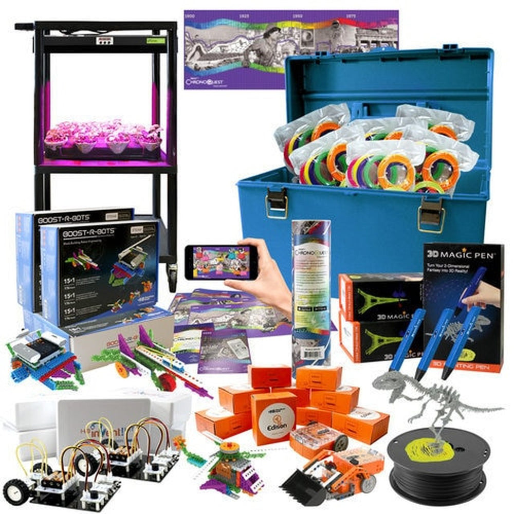 Intermediate Skill Level - Deluxe STEAM Pack - Coding Robots, Engineering Robots, 3D Printing Pens, Augmented Reality, LED GrowLight and Much More! (HamiltonBuhl)