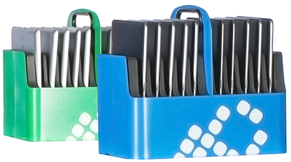 LocknCharge Aluminum Basket 10 Slots (Blue or Green Color)