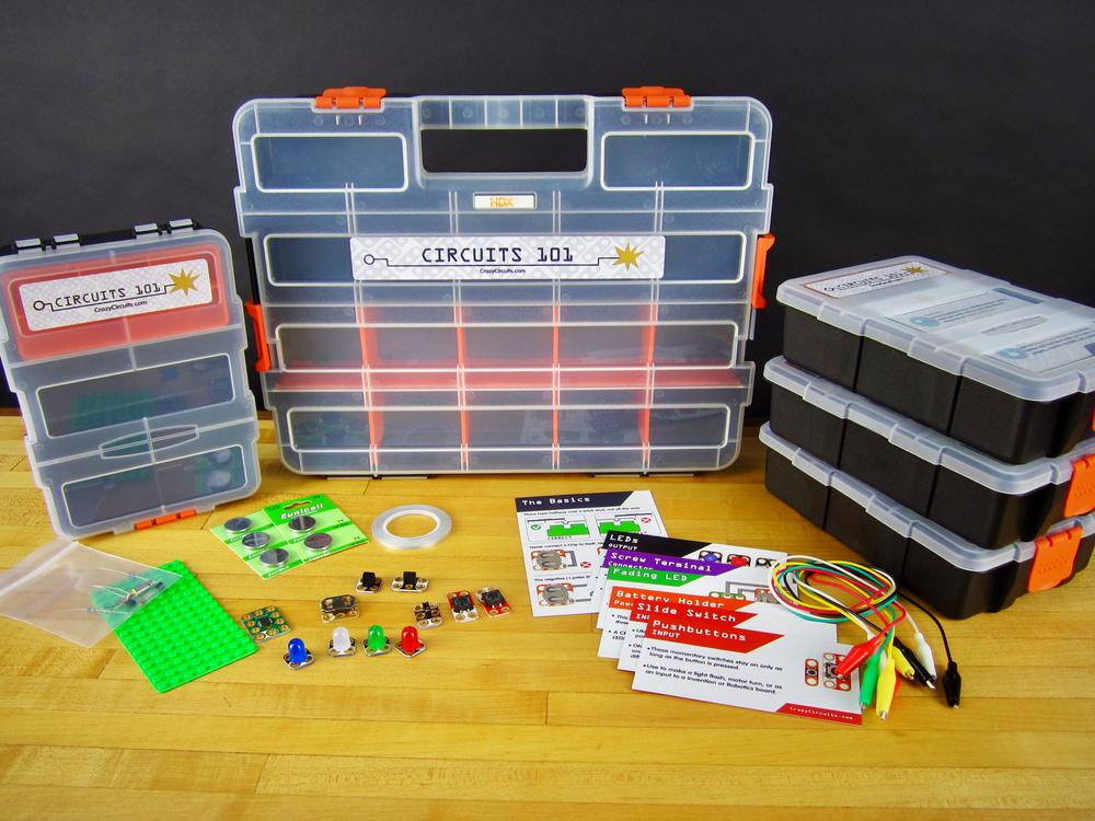 Crazy Circuits Classroom Set: Circuits 101 (4 Pack)