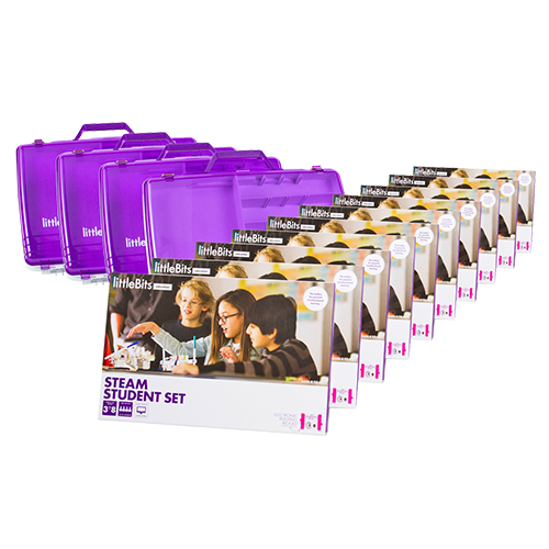 littleBits - STEAM 30  Student Set (Classroom Pack 10 Sets & 4 Tackle Boxes)