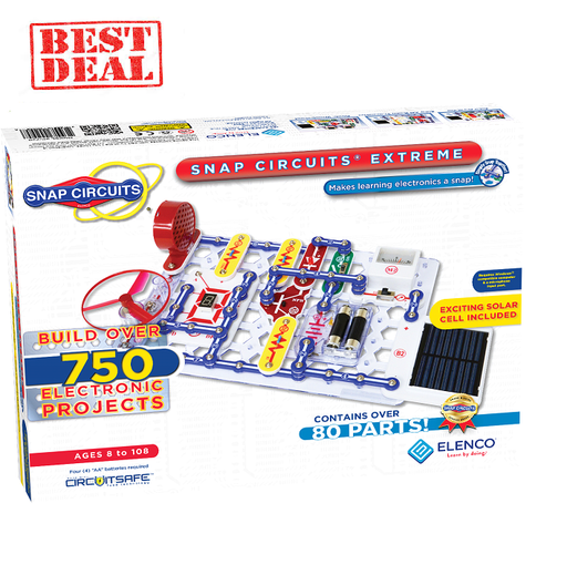 Elenco Snap Circuits Extreme 750 Experiments with Computer Interface Kit - BEST VALUE