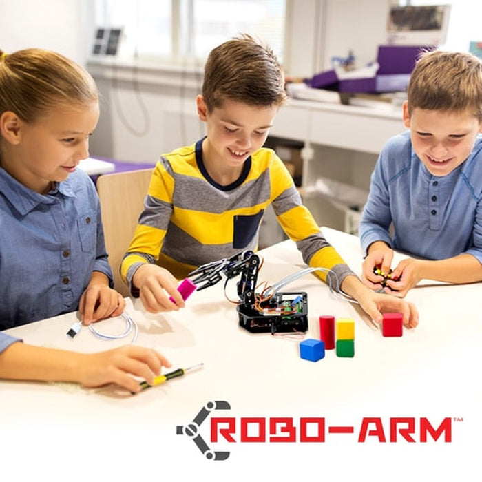 STEAM Robo-Arm Kit for Arduino - Programmable 4-Axis Robot Arm (HamiltonBuhl)  - Classroom 10 Pack