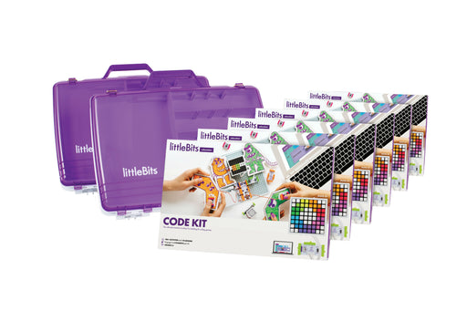 littleBits Code Kit Class Pack 18 Students (Classroom Pack 6 Sets & 2 Tackle Boxes)