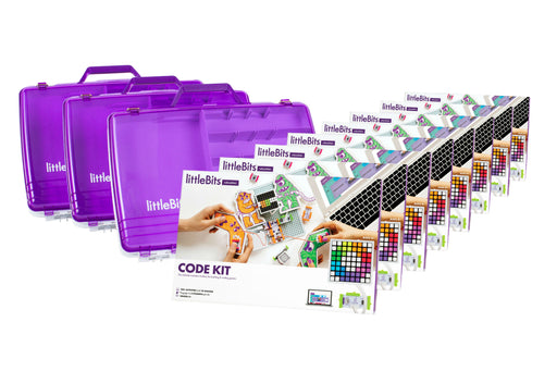 littleBits Code Kit Class Pack 24 Students (Classroom Pack 8 Sets & 3 Tackle Boxes)