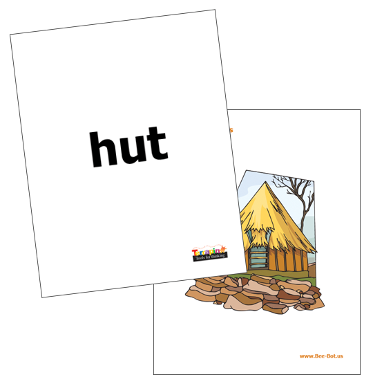 Bee & Blue Bot - Word Cards
