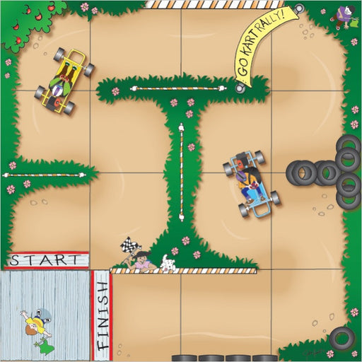 Go Cart Rally Mat (Blue-Bot)