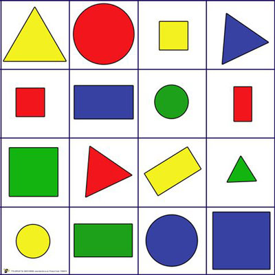Shapes, Colors, and Size Mat (Blue-Bot)