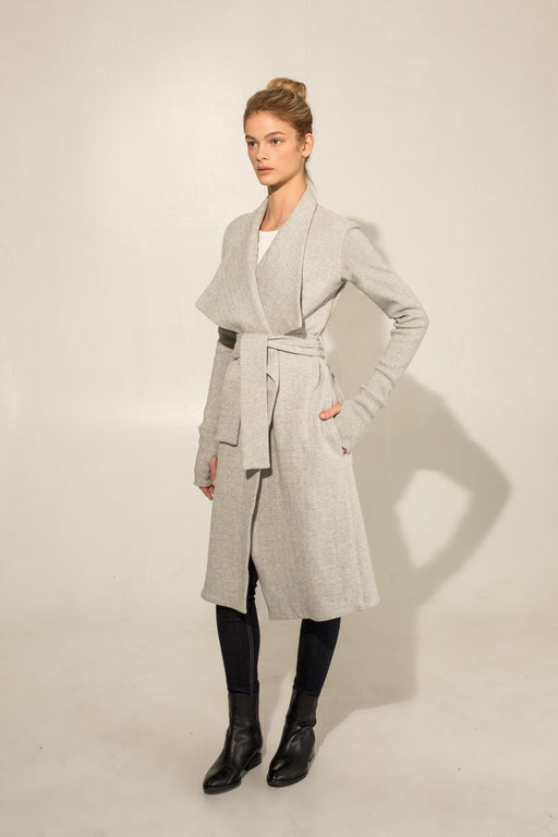 THE GRAY WRAP COAT