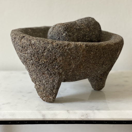 Primitive Molcajete Volcanic Stone Mexican Mortar & Pestle Grinder