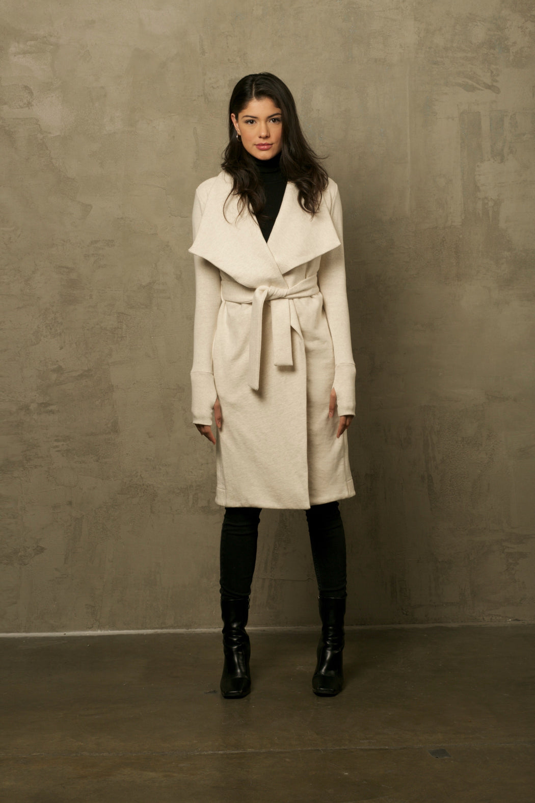 THE OATMEAL WRAP COAT