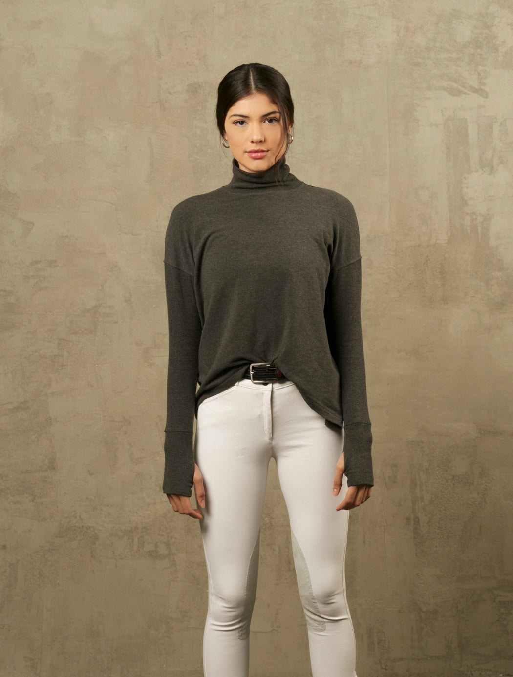 THE CHARCOAL BAMBOO TURTLENECK