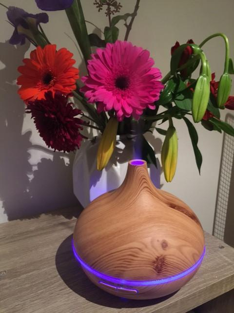 Aromatherapy AUS AUS Aromatherapy 300ml Ultrasonic Wooden Essential Oil Diffuser - Light Grain