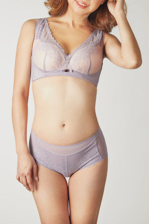 FinelyCup C1218: Curve Series Lacy / Seamless Bra (Pearl Fabric) without Underwire