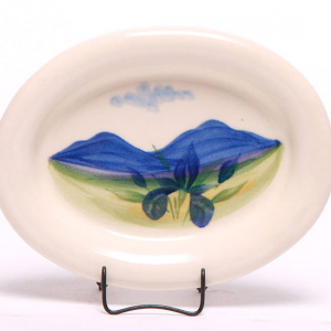 Handpainted Pottery Brie Dish Peaks of Otter