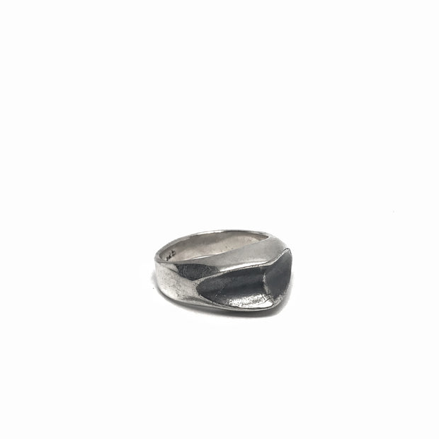 Casted Silver Pointed Ring
