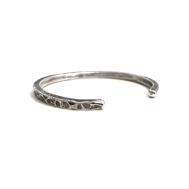 Silver Textured Cuff Made in USA