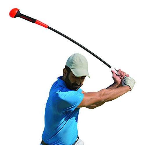 Rukket Golf Swing Trainer | Equipment & Training Aids for Tempo & Speed Practice | Flex Tool Whip Club | Weighted Warm up Stick & Wrist Aid | Impact Power Weight | Plane Guide (40 inches, 1lb Head)