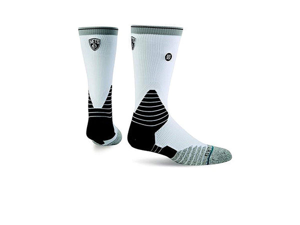 Stance NBA Logo Crew Nets Small {3-5.5} White
