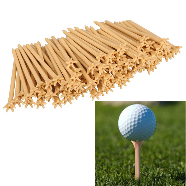 100 Pcs/Pack Professional Frictionless Golf Tees Free Shiping