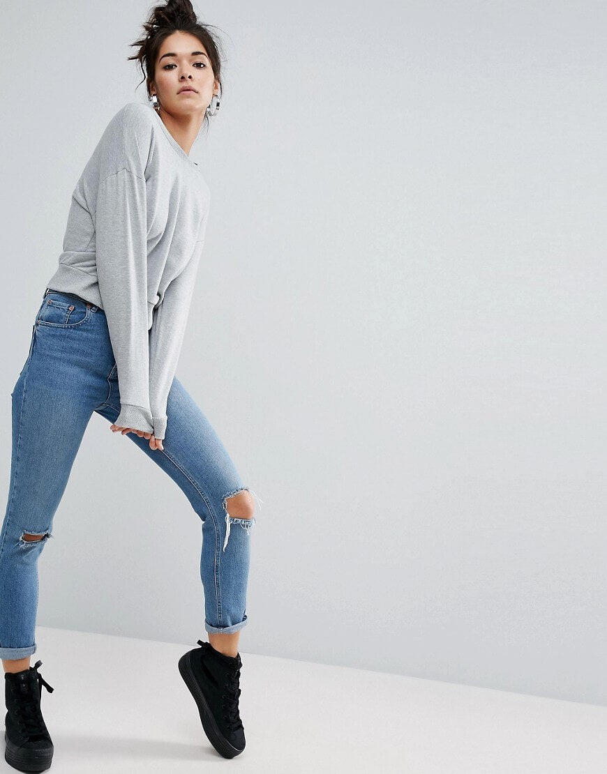 Oversized Cropped Sweatshirt