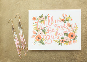 will you be my bridesmaid card rifle paper